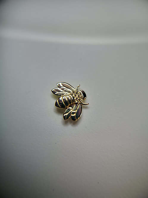 Body Gems 14ct Yellow Gold Bee