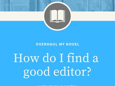 How do I find a good editor?