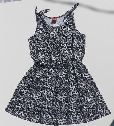 Vestido Kyly - preto estampado