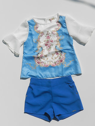 Conjunto memy blusa e shorts