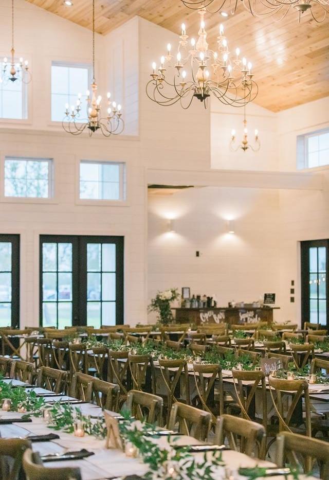 Wedding day table settings