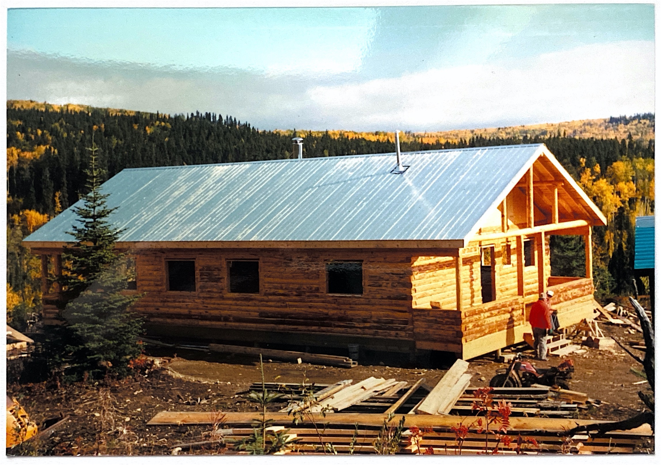 Fall 1985 Chalet Being Built