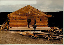 1985 The First Ski Chalet Being Built