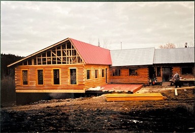 Roof going on to Chalet addition-2002