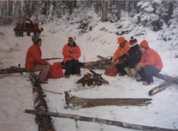 One of many campfire lunches