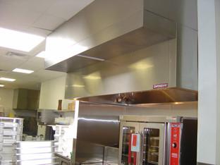 Custom Built Stainess Steel Hood Exhaust Installation 2