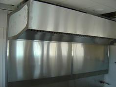 Custom Built Stainess Steel Hood Exhaust Installation 3