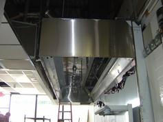 Custom Built Stainess Steel Hood Exhaust Installation 4