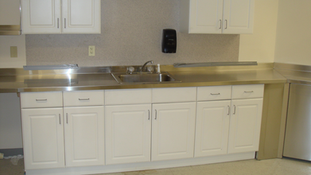 Installed Stainless Steel Countertop