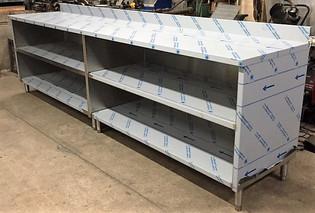 Custom Built Stainless Steel Shelves