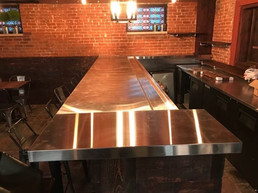 Custom Built & Installed Stainless Steel Countertops