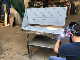 Custom Built Stainless Steel Wall Shelf