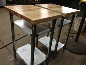 Custom Butcher Block Top Tables