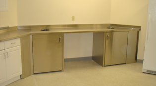 Custom Stainless Steel Cabinets