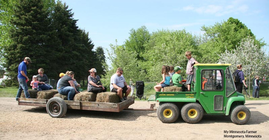 Family fun day on a CSA in Montgomery, Minnesota