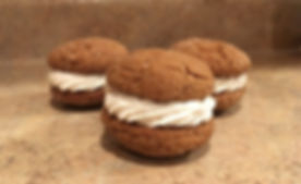 Marketing Studio - homemade sandwich ginger cookies filled with frosting