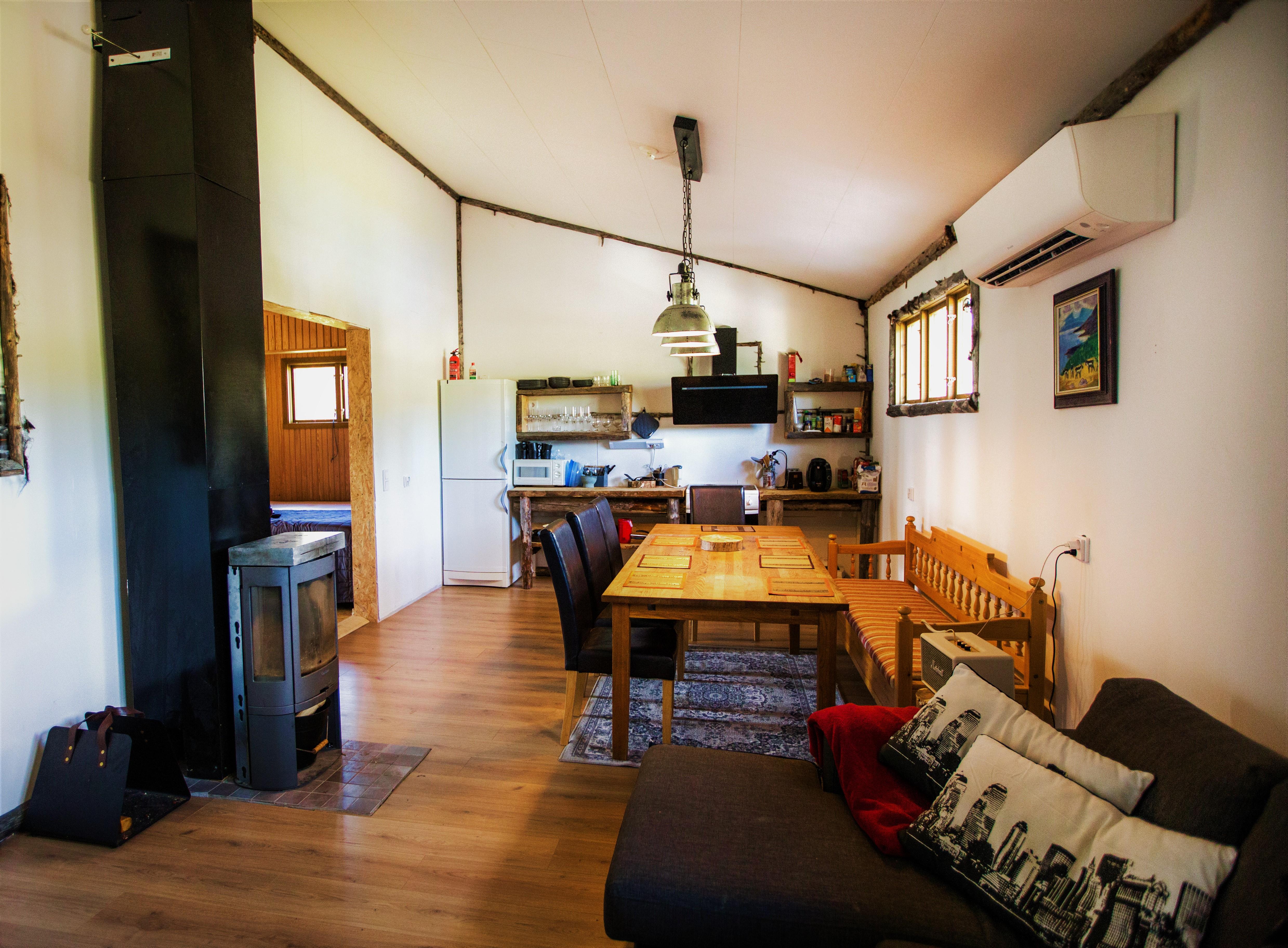 Open floor plan, kitchen and living room