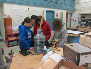 Dedicated Students are Working Hard to Construct Eco-Classroom, Renewable Energy Systems at New Myrn