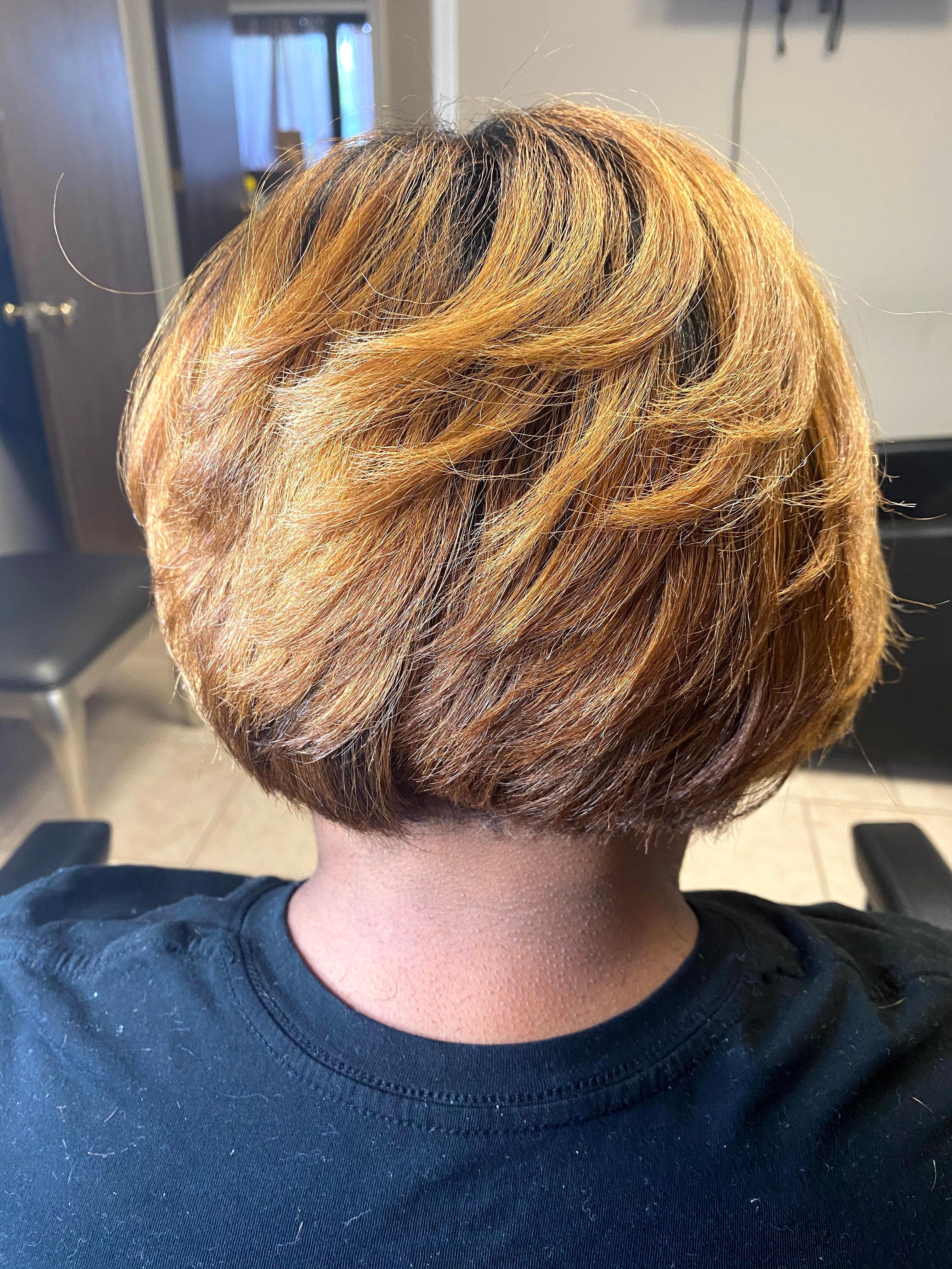 Dark to Blonde Color Transformation
