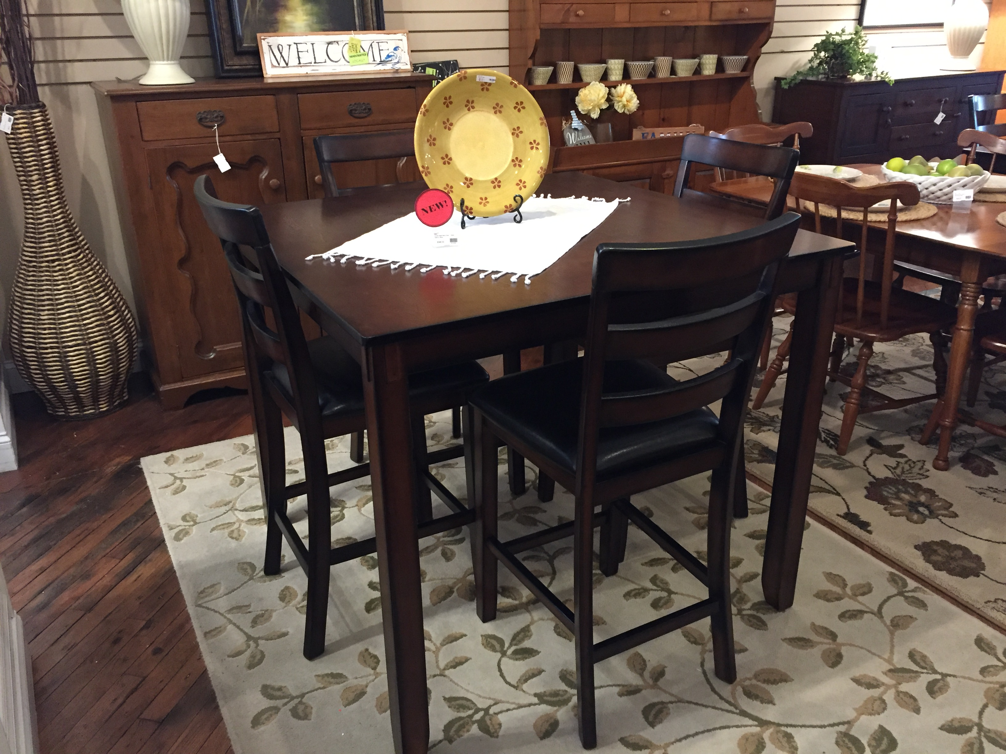 COUNTER HEIGHT WALNUT FINISH TABLE