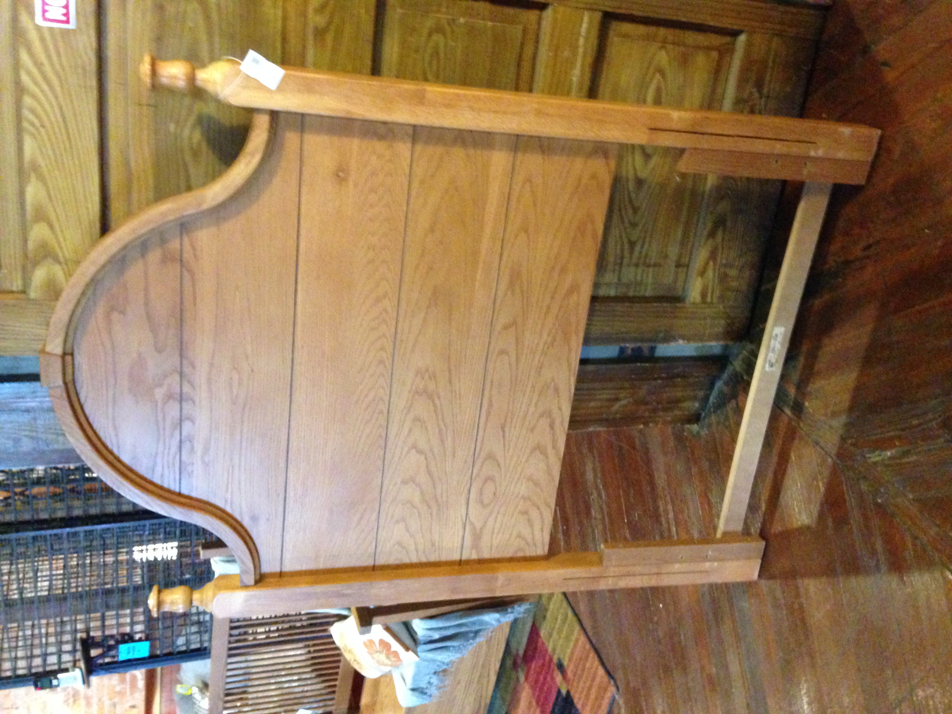 TWIN OAK FINISH PANEL HEADBOARD