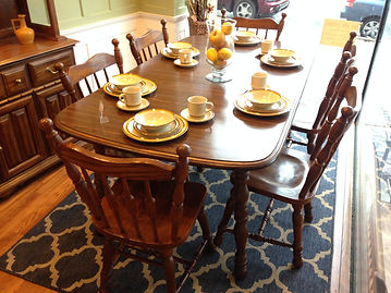 Cochrane Oak Table 6 Chairs Hometown Refurnishing Dining Room