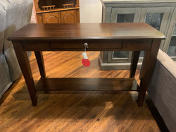 CHERRY FINISH CONSOLE TABLE WITH DRAWER