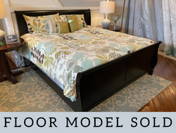 BLACK KING SLEIGH BED WITH RAILS