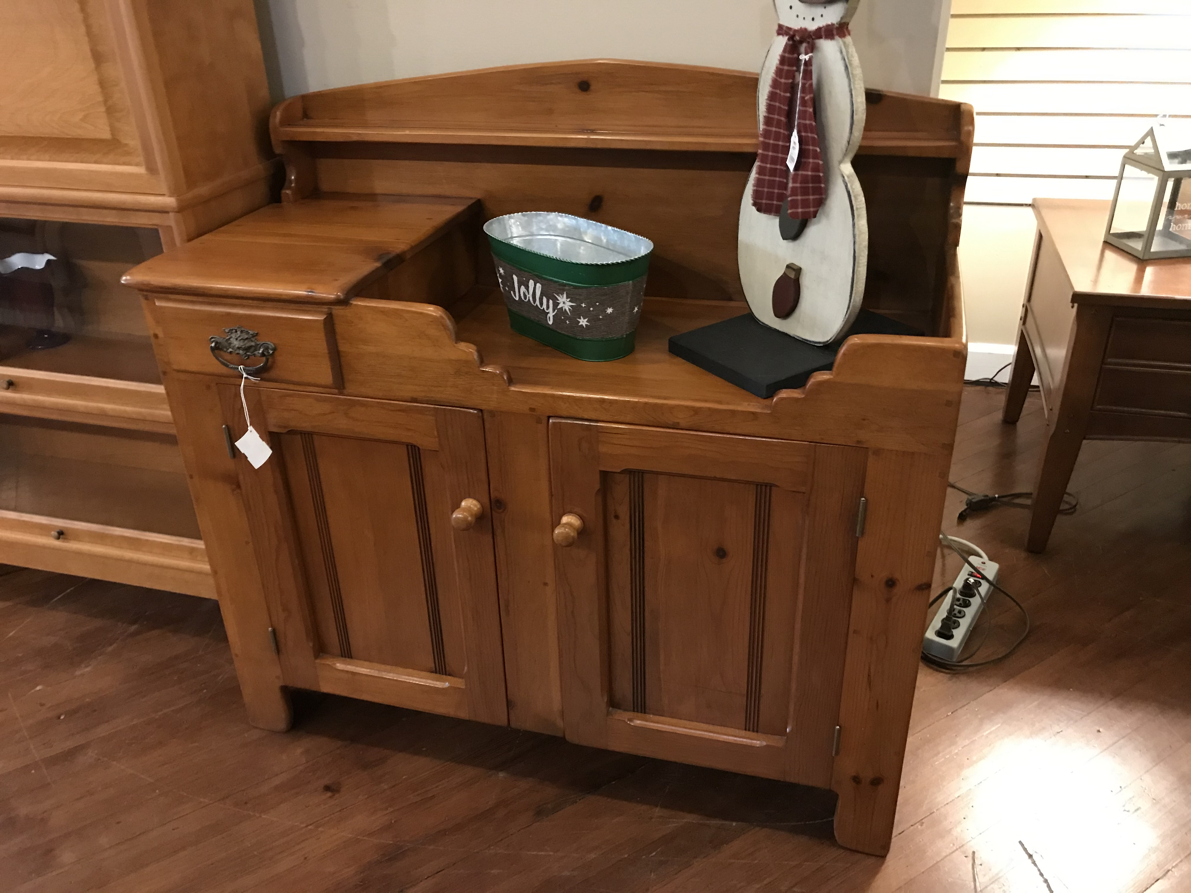 REPRODUCTION PINE DRY SINK