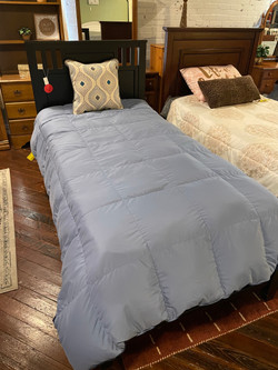 BLACK TWIN PANEL BED