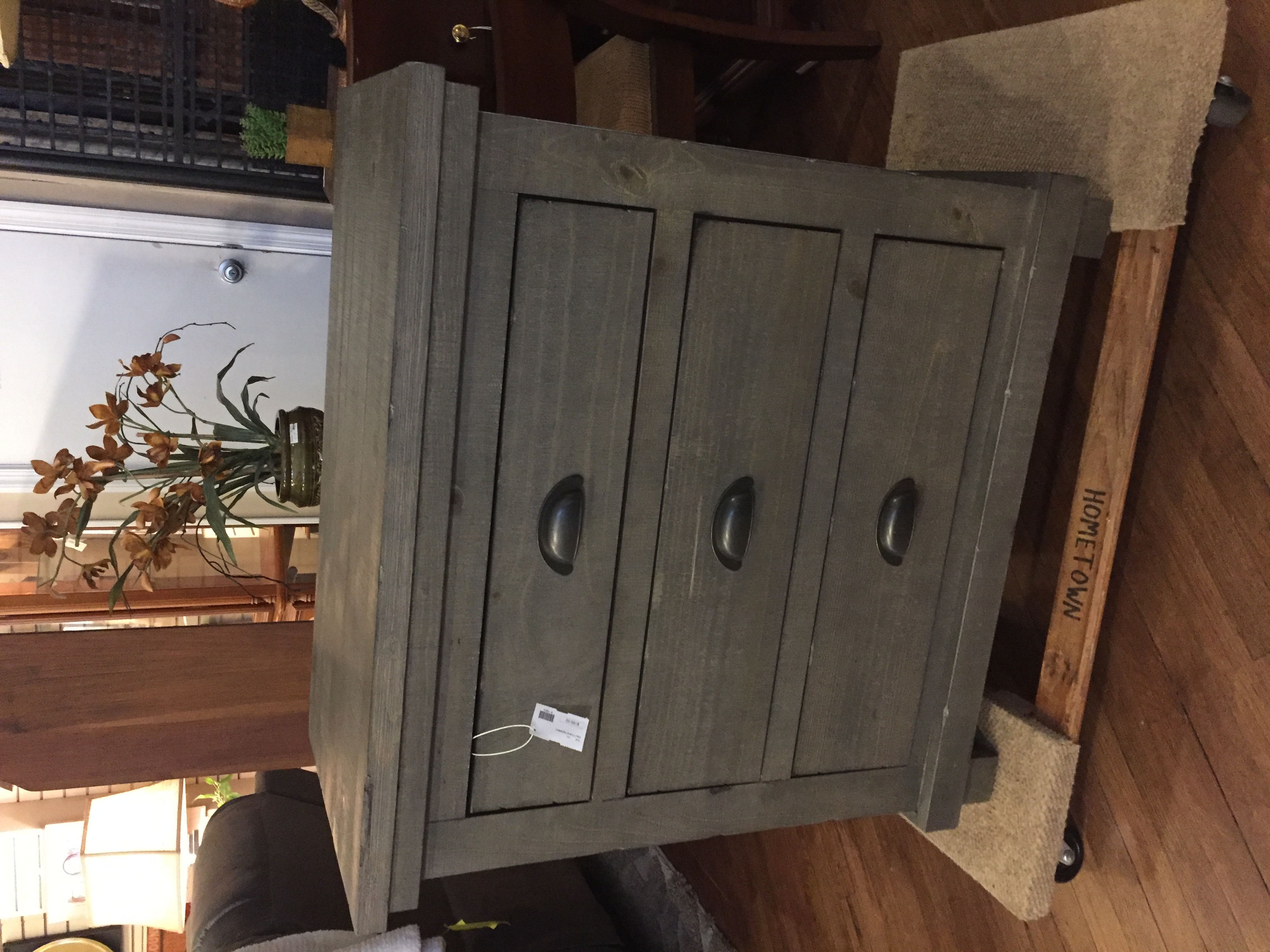 GRAY 3 DRAWER NIGHTSTAND