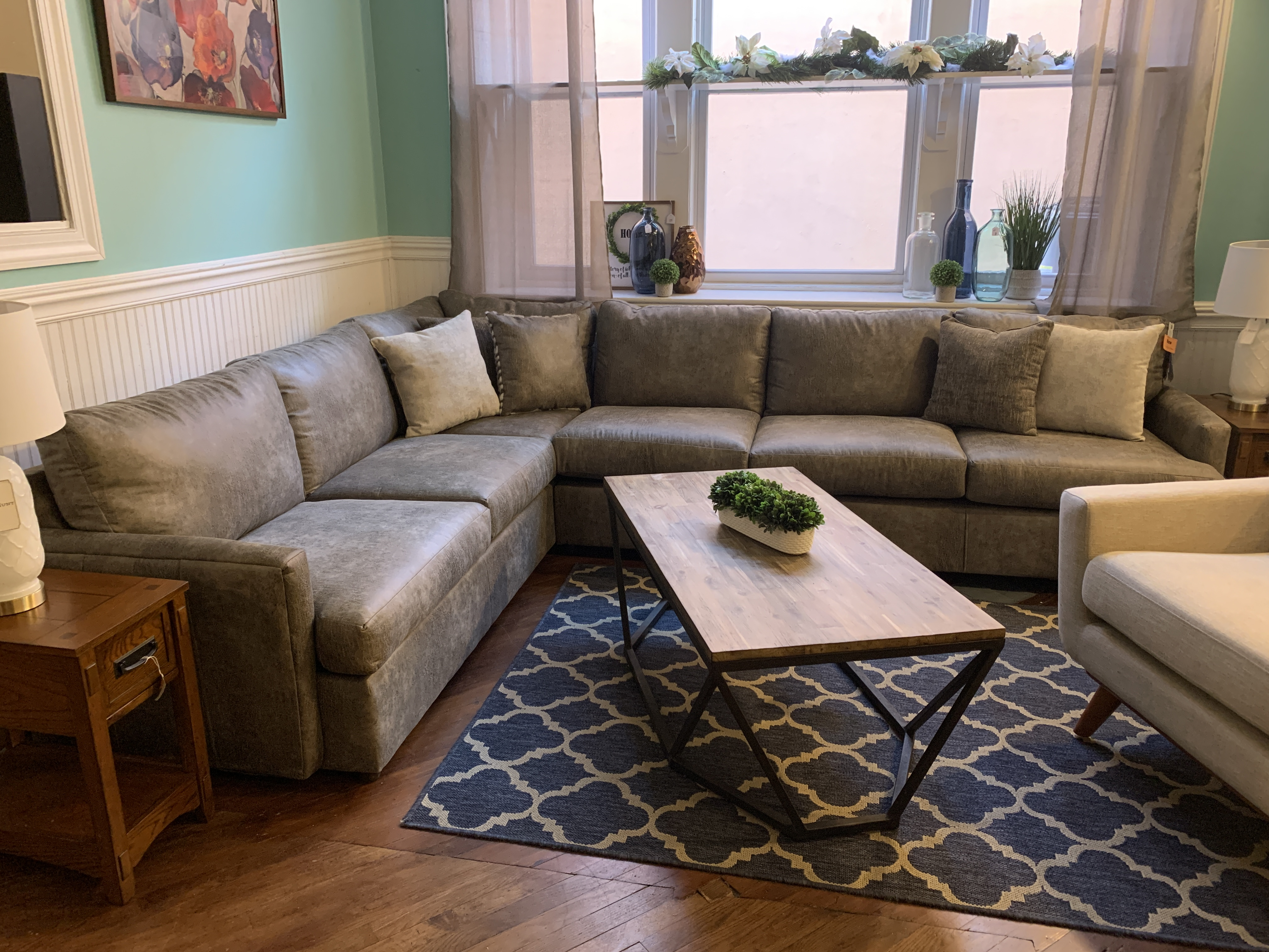 HUGHES GRAY SECTIONAL