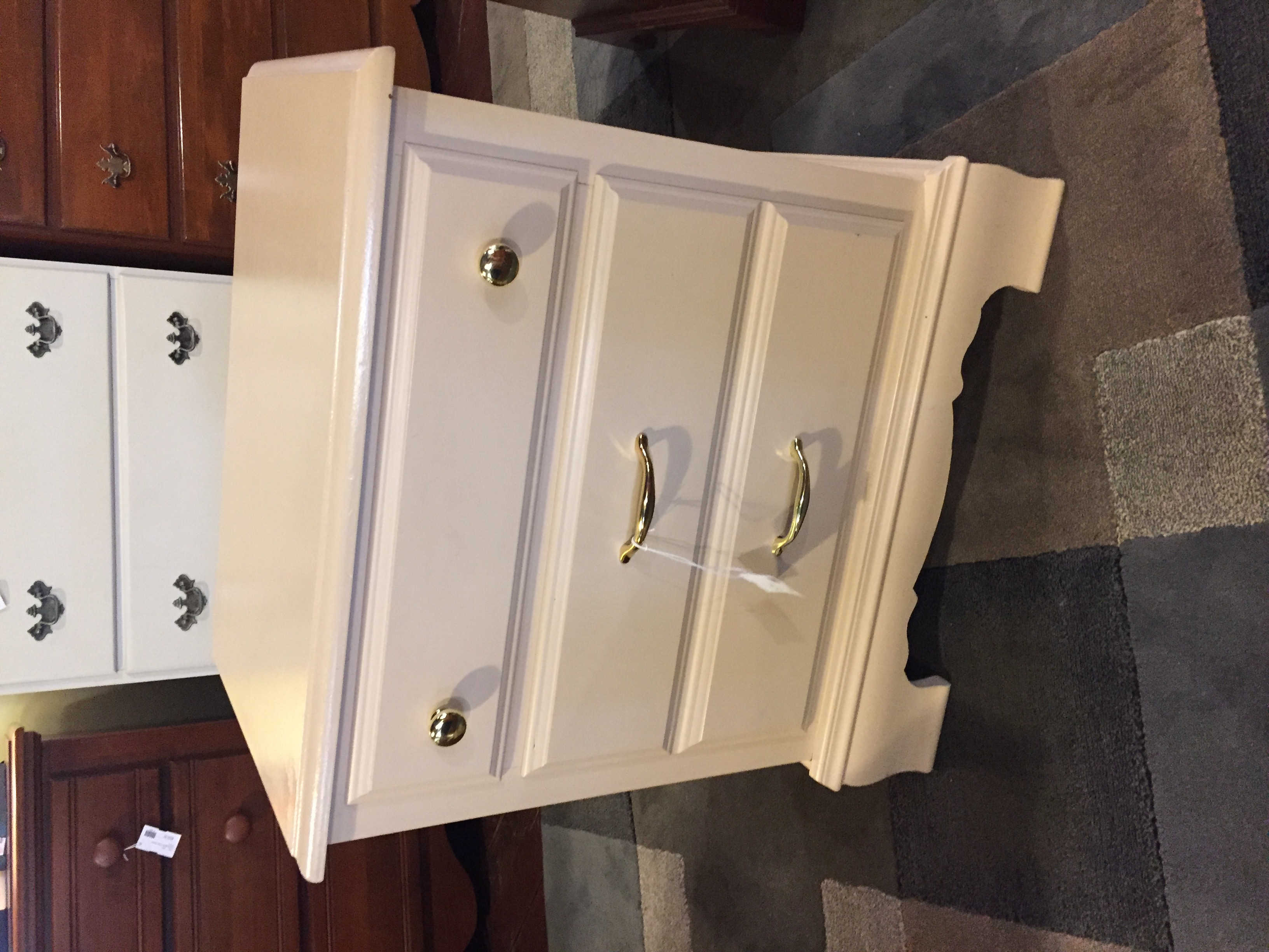 CREAM PAINTED NIGHTSTAND