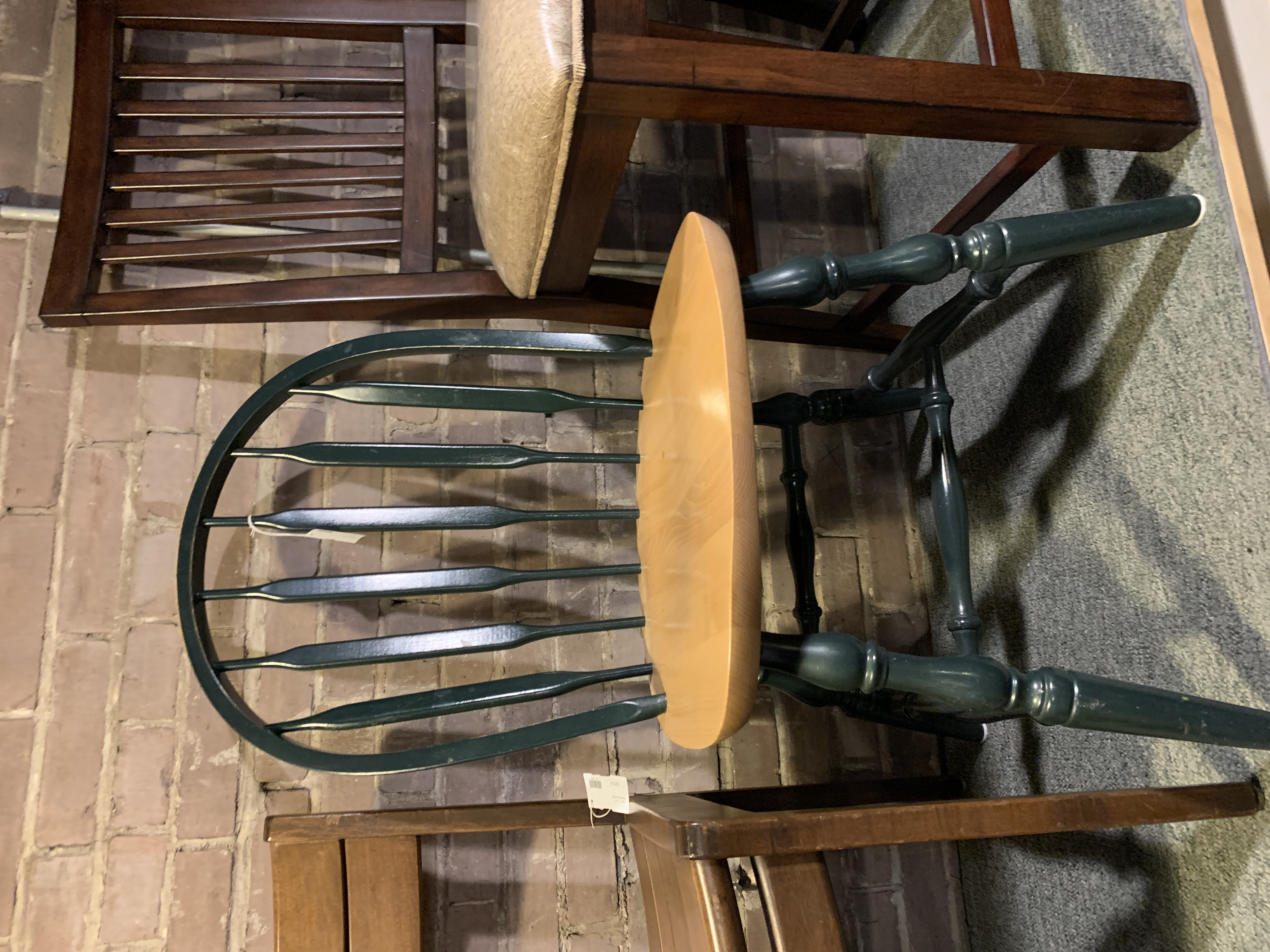 GREEN & BLONDE DINING CHAIR
