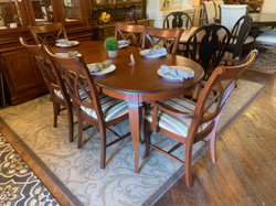 CHERRY OVAL TABLE & 6 CHAIRS