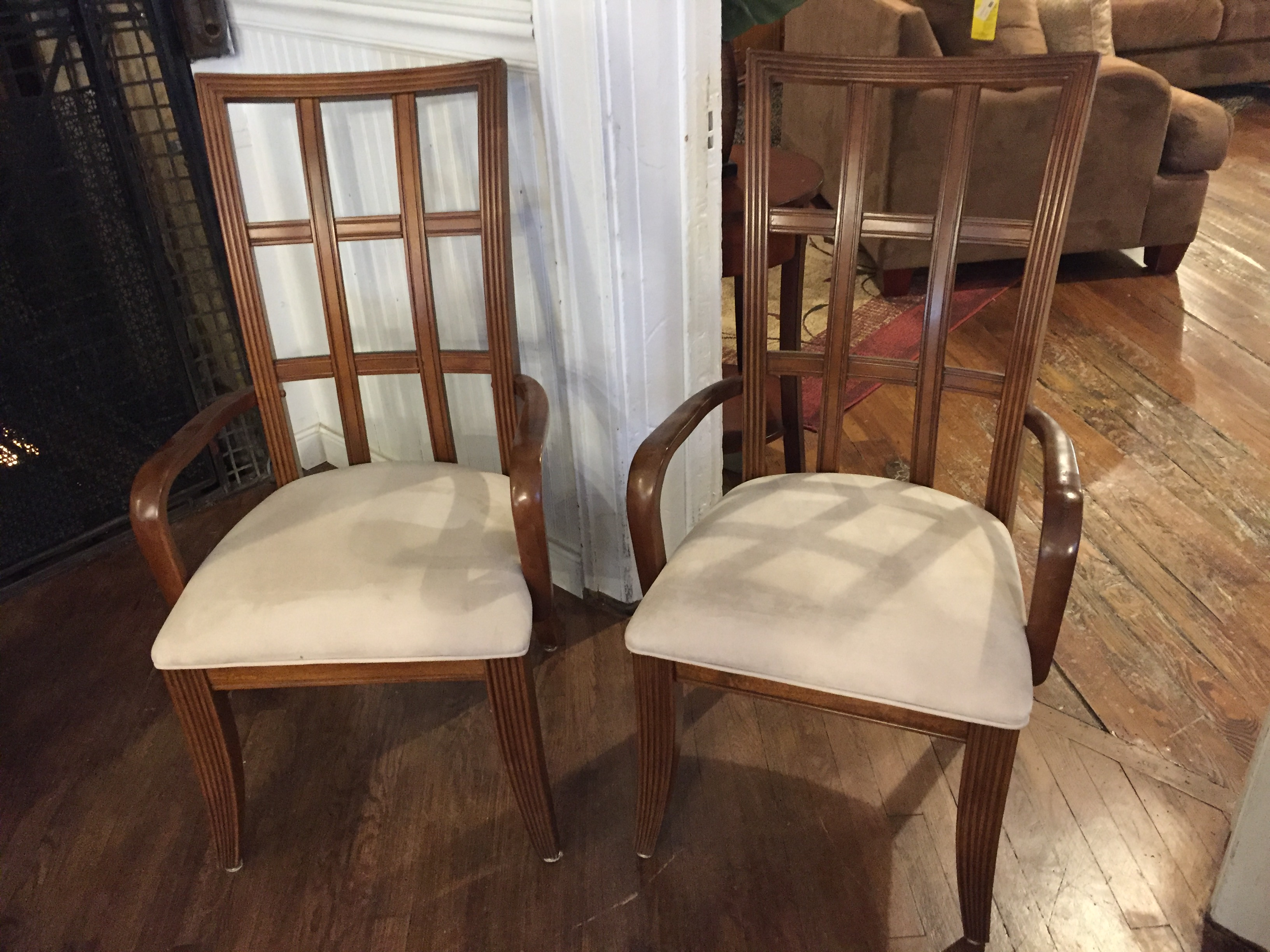 SET OF 2 LEGACY CHERRY DINING CHAIRS