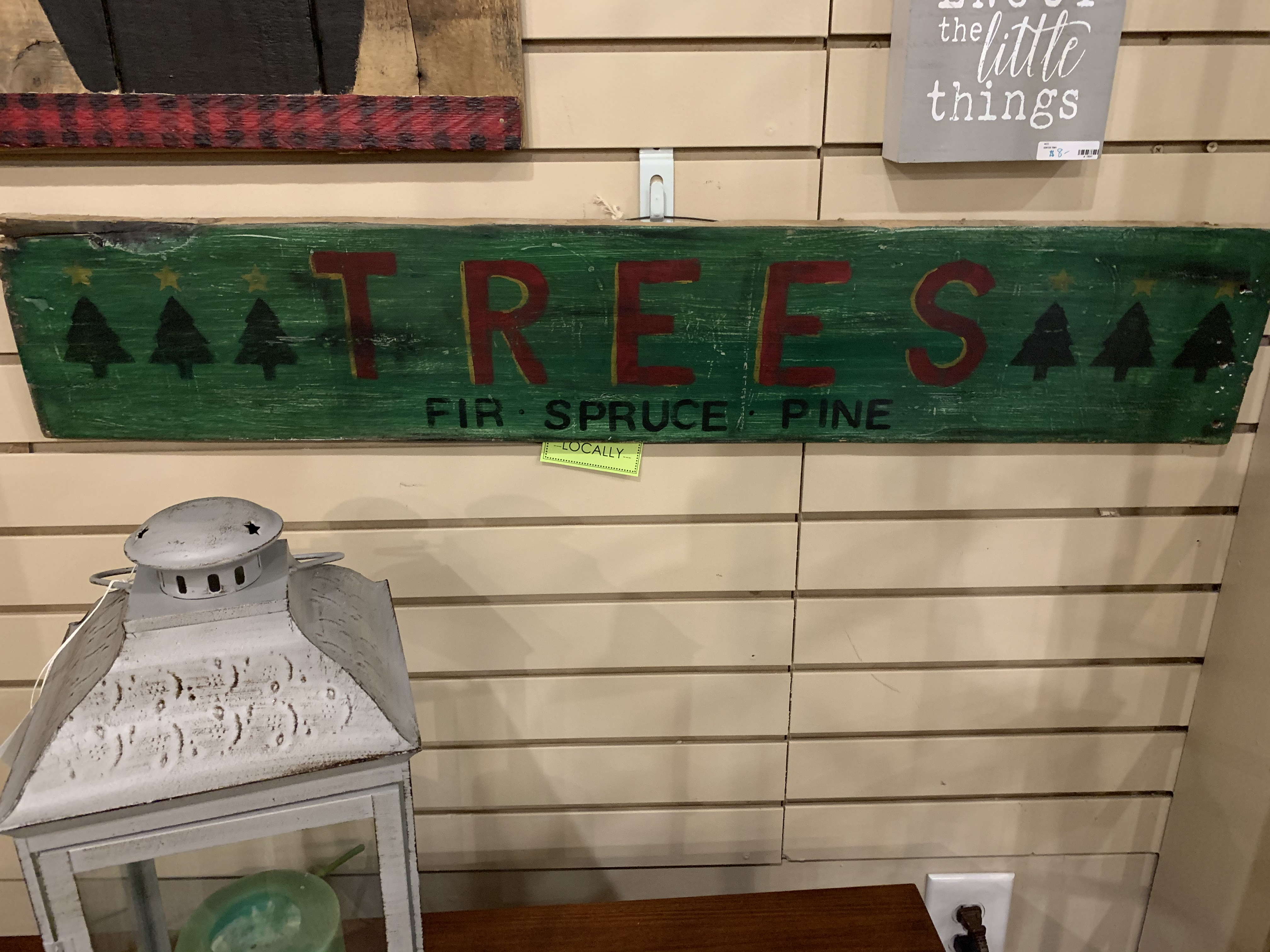 TREES SIGN