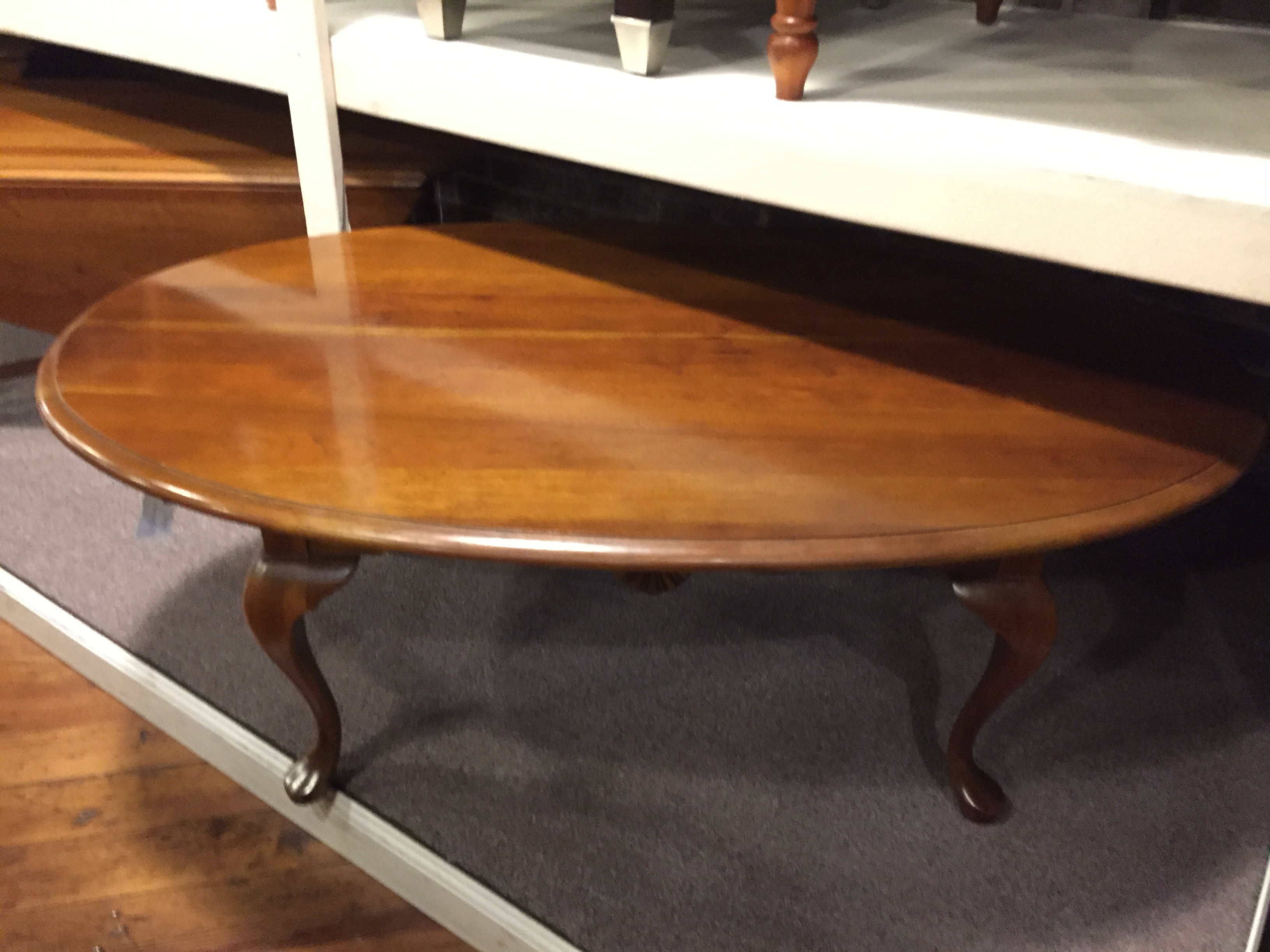CHERRY QUEEN ANNE COFFEE TABLE
