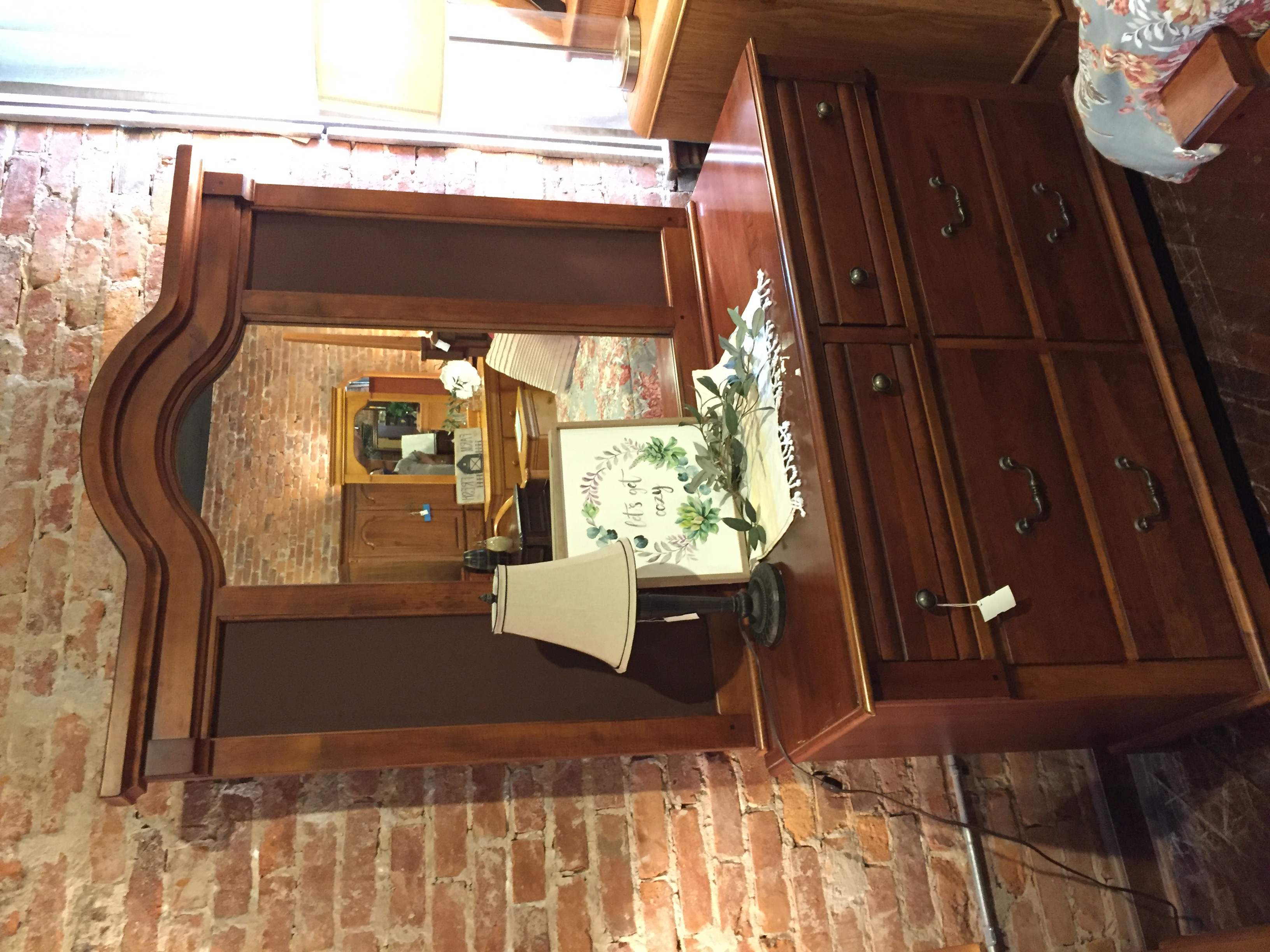LEXINGTON CHERRY DRESSER WITH MIRROR