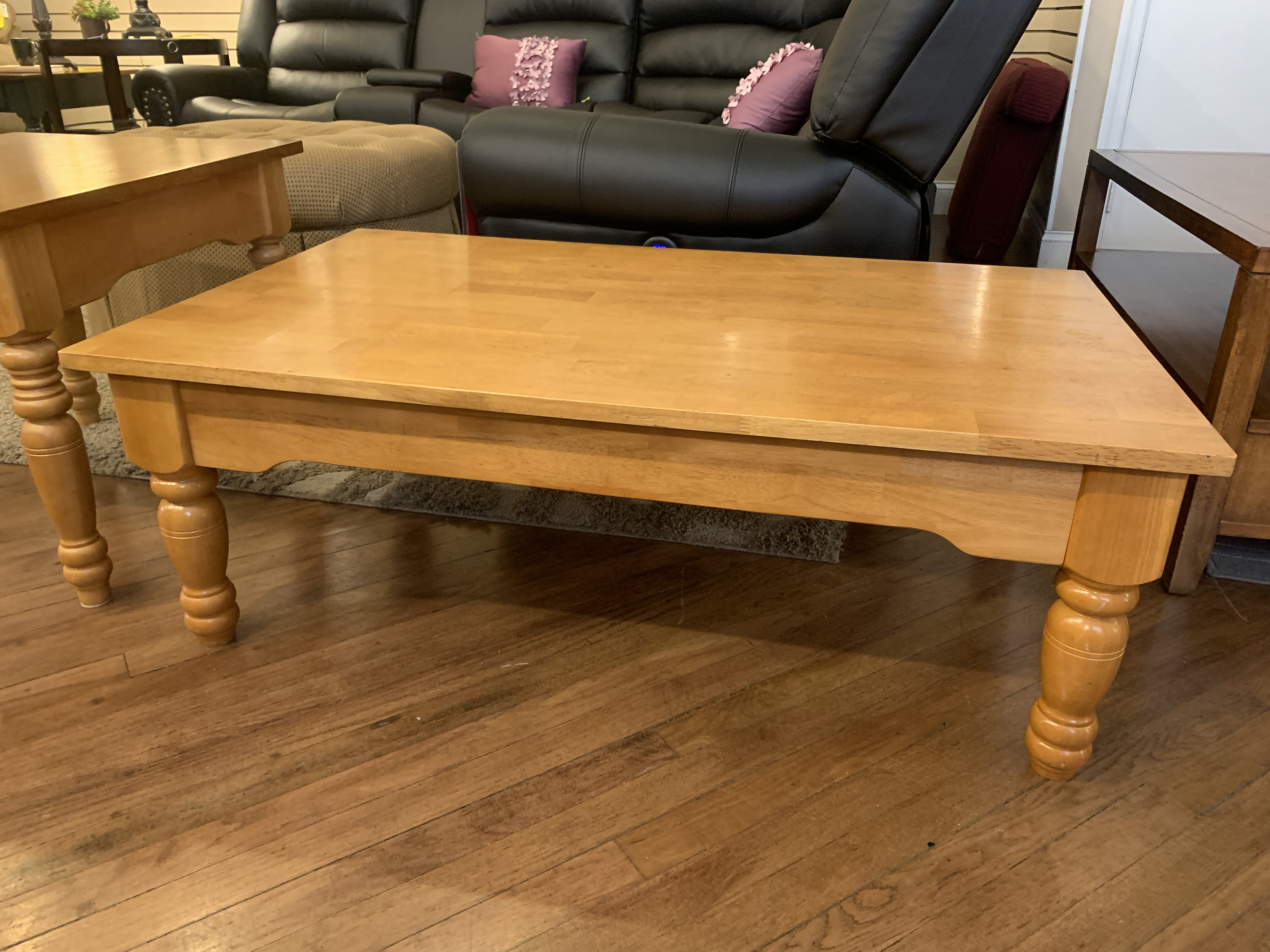 BLONDE FINISH COFFEE TABLE