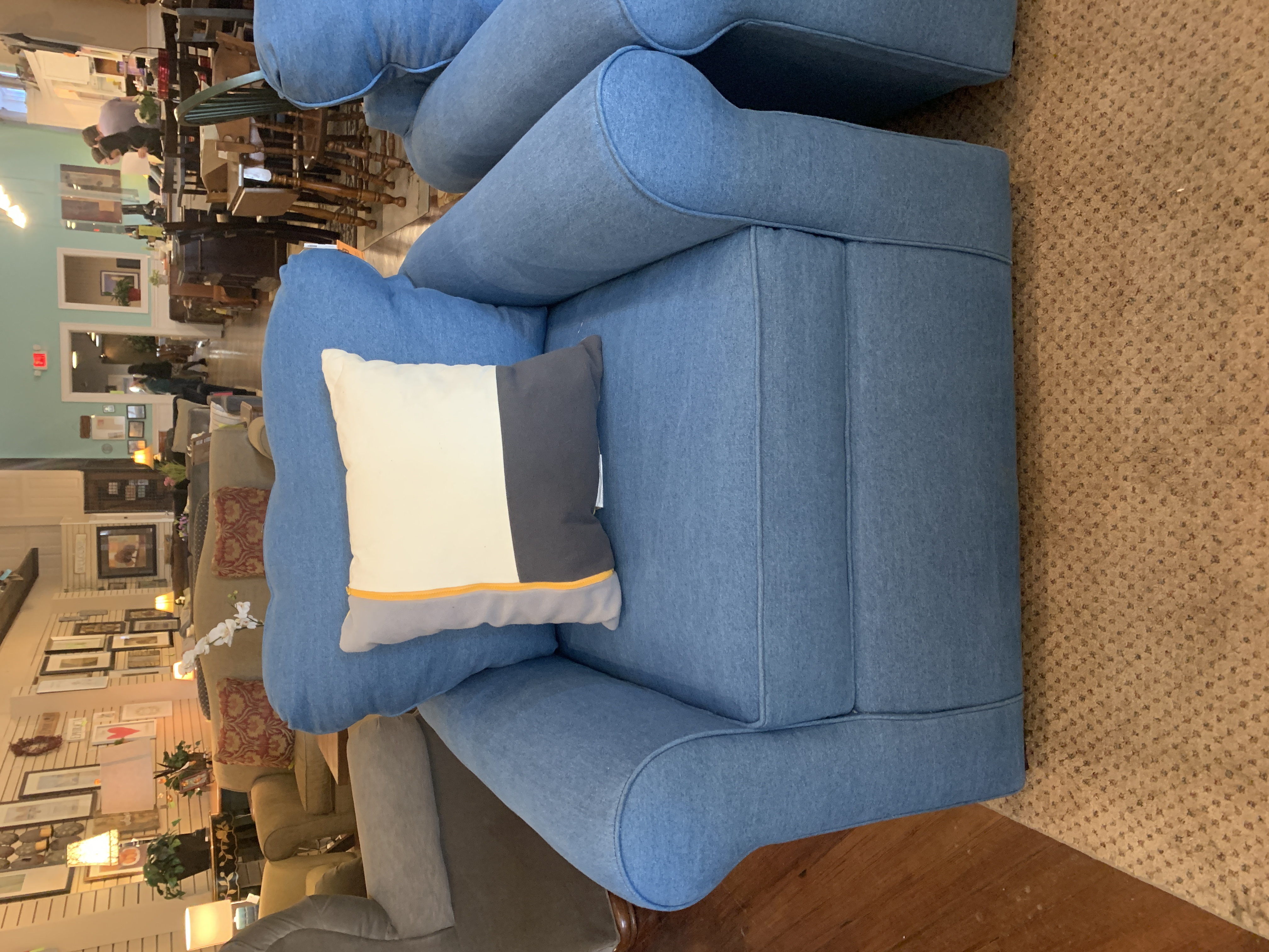 KLAUSSNER BLUE ARM CHAIR