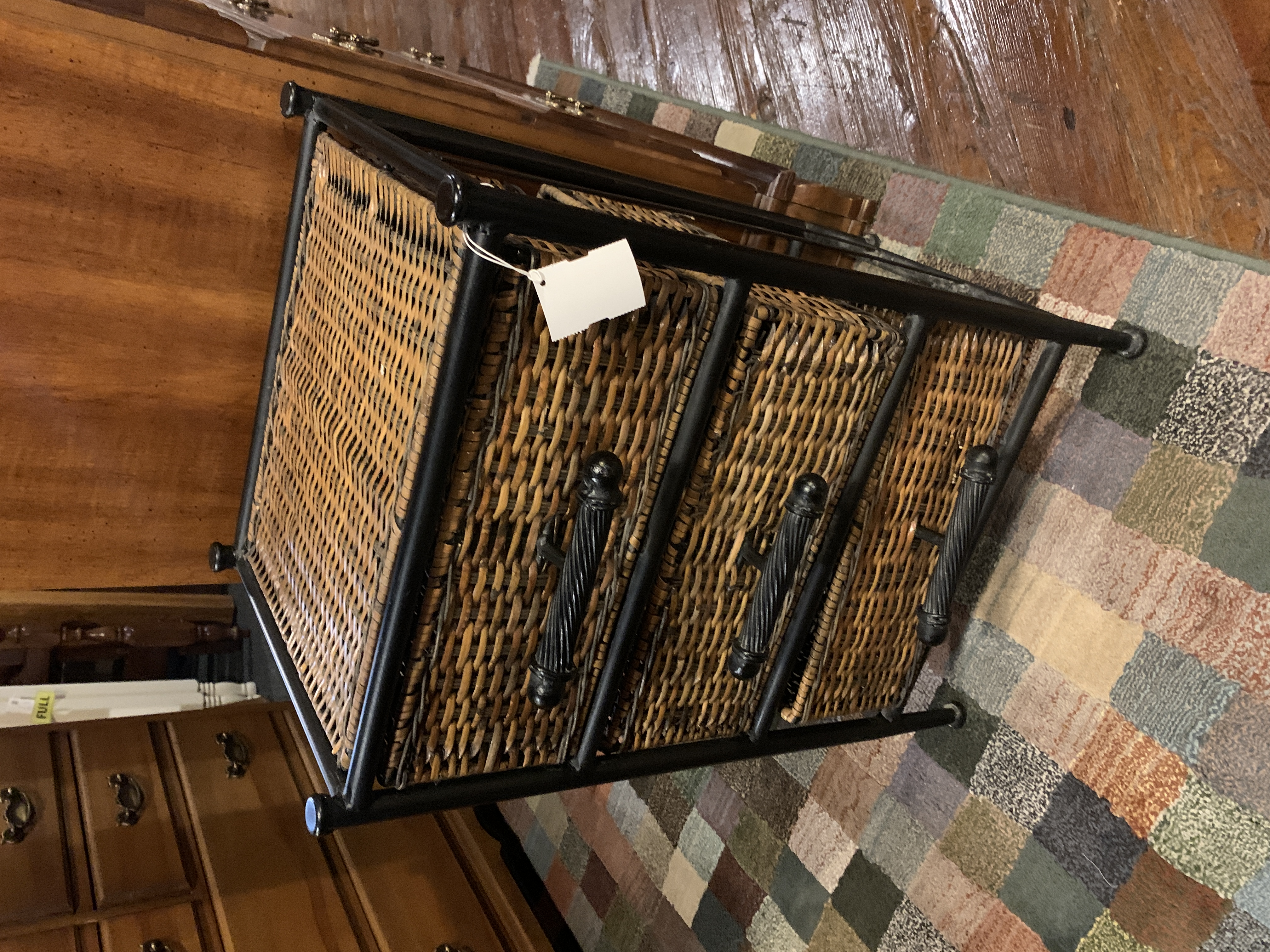 3 DRAWER CHEST WITH WICKER DRAWERS