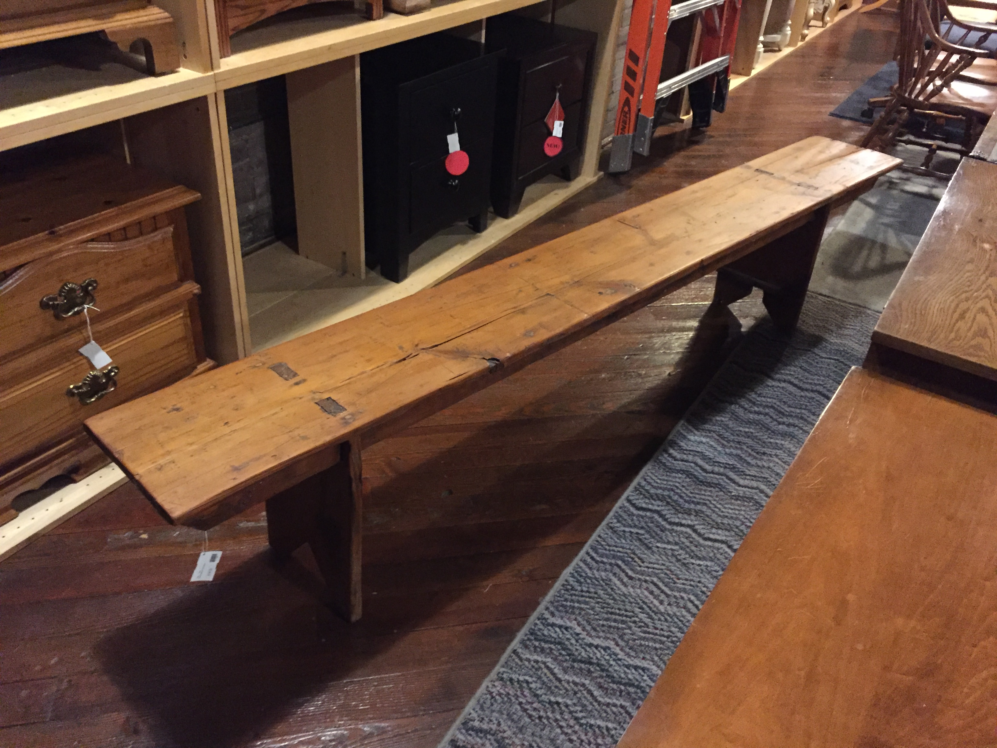 MORTISE STYLE NATURAL WOOD BENCH