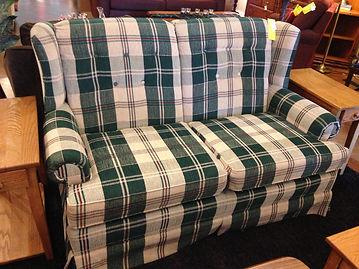 check sofa plaid furniture plaidguy buffalo century