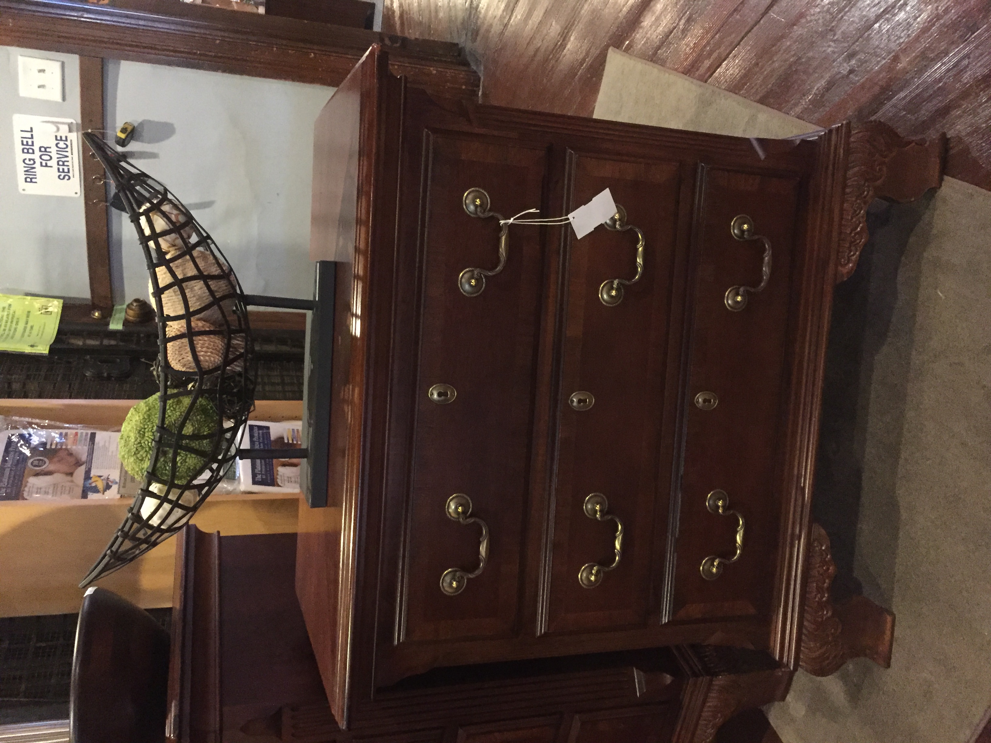CHERRY INLAID NIGHTSTAND