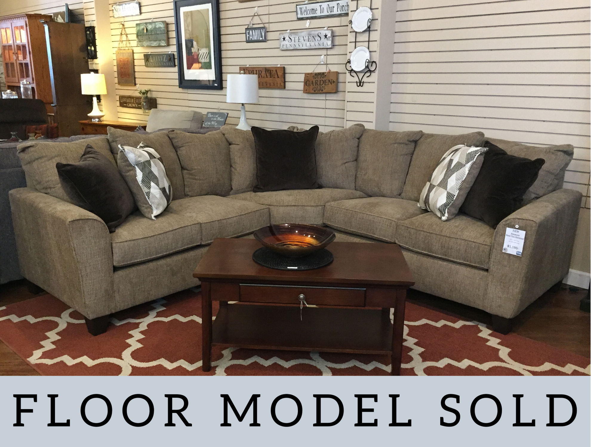 SIMMONS REED TAN SECTIONAL