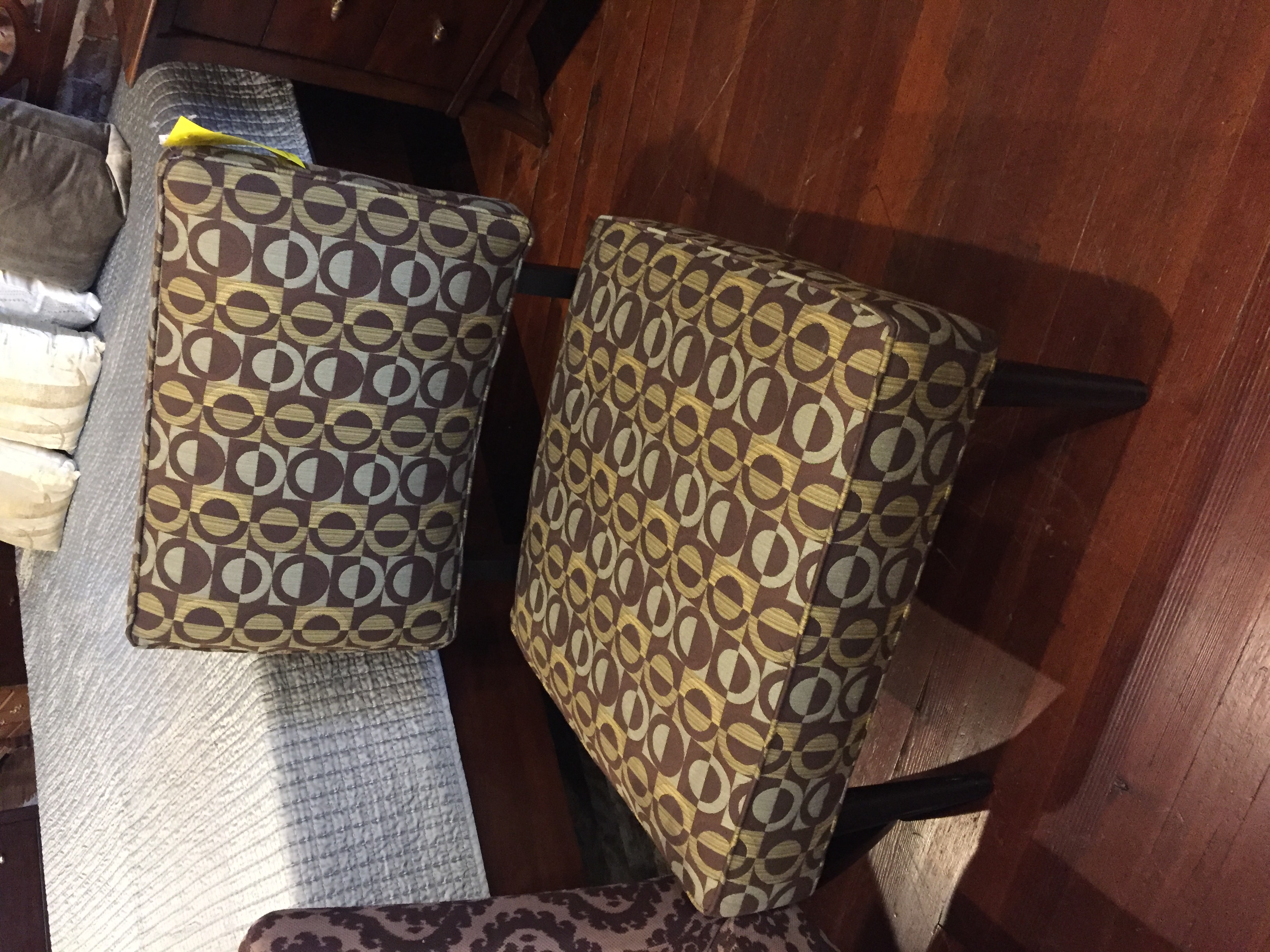 BROWN PATTERN ACCENT TABLE
