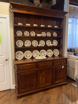 LARGE OPEN CHERRY HUTCH