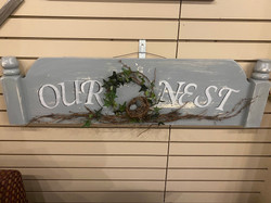 GRAY OUR NEST SIGN