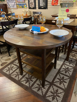 ASHLEY ROUND COUNTER HEIGHT TABLE
